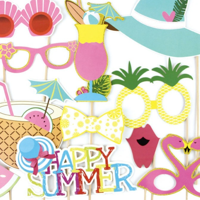 graphic regarding Printable Party Decorations known as US $3.86 21% OFFSummer Temper Printable Hawaiian Photograph Booth Props Seaside Luau Hawaiian Celebration Decorations Pool Summer months Year Occasion Tropical Celebration-in just Get together