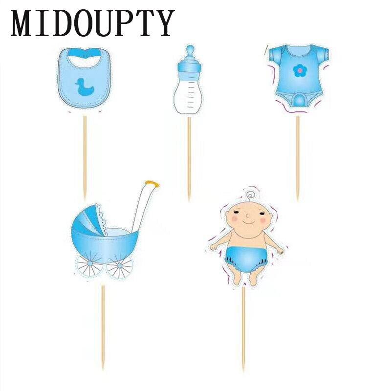 Tovar 20pcs Set Baby Shower Cupcake Toppers Babyshower Boy Girl
