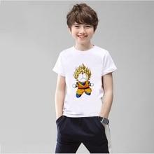 Doraemon Batman Goku Printing Funny Cartoon pattern Modal Kidswear Boy/girl Summer T-shirt Short Sleeve White Kid Clothes