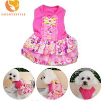 Pet Dog Dress Summer Puppy Wedding Skirt Bowknot Lace Princess Dresses For Small Dogs Chihuahua Yorkshire