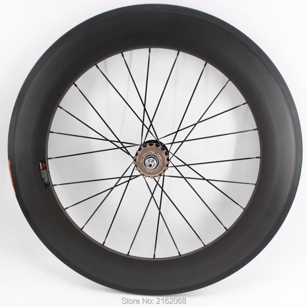 1pcs New 700C 88mm clincher rims Road Track Fixed Gear bike matt 3K UD 12K full carbon bicycle wheelsets 23/25mm width Free ship