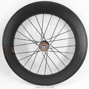 1pcs New 700C 88mm clincher rims Road Track Fixed Gear bike matt 3K UD 12K full carbon bicycle wheelsets 23/25mm width Free ship - DISCOUNT ITEM  0% OFF All Category