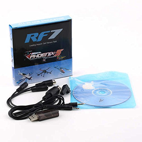 22 IN 1 RC USB FLIGHT SIMULATOR CABLE FOR REALFLIGHT G7 G6 G5 G4 G3.5,Phoenix 5.0 XTR FMS Aerofly  1pcs 4in1 usb flight simulator computer flight simulator for g4 fms xtr aerofly su27 kt model airplane helicopter controller