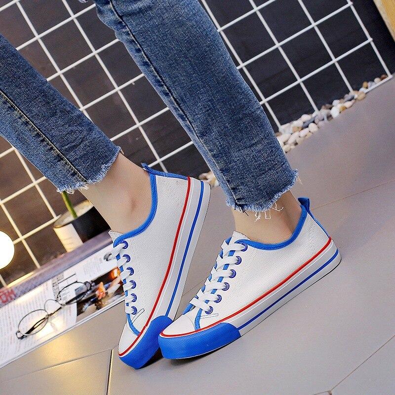 da4b2197f AGUTZM женская повседневная обувь 2019 осенние женские кроссовки модные  дышащие pu кожаные туфли на платформе женская