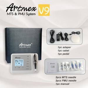 Image 5 - הכי חדש קבוע איפור קעקוע מכונת Artmex V9 עיניים גבות שפתיים סיבובי עט MTS PMU מערכת עם V9 קעקוע מחט