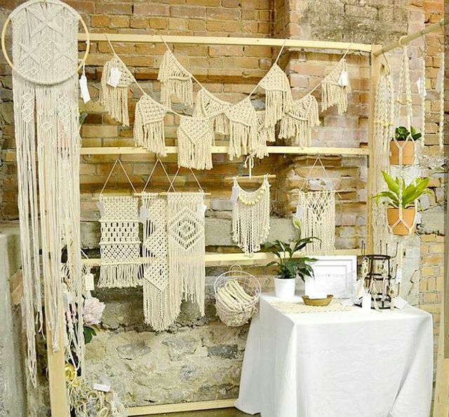 Handmade Macrame Hanging Decorations/Dyed Bohemia Handwork tassel ...