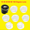 10pcs14mm 15 30 45 60 90 100 Degree Mini Clear LED Lens For 1W 3W 5W LED Light Lamp(Without LED Light and Star Base)
