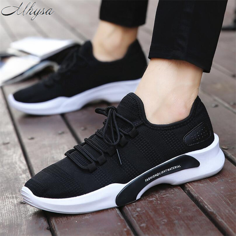 Mhysa 2019 New Spring And Autumn Men Fashion Wild Breathable Shoes Comfort Solid Lace up Men Sneakers Shoes Casual Shoes L002 kryte sandały na platformie