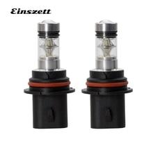 Einszett 2 шт 9007 белый автомобильный передний светодиодный противотуманный фонарь DRL свет 1000LM 3030 20SMD 100 Вт 12 В светодиодный противотуманный фонарь