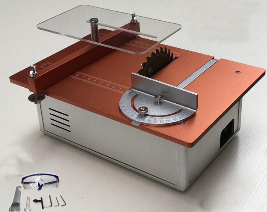 Aluminum Micro Table Saw DIY Mini Cutter Acrylic Wood PCB Cutting machine