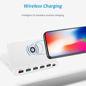 Image 2 - STOD Multi Porta USB Senza Fili Caricatore 60W Stazione di Ricarica Carica Rapida 3.0 Supporto Per iPhone X Samsung Huawei Nexus mi Adattatore