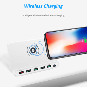 Image 2 - STOD Multi USB Port Wireless Charger 60W Charging Station Quick Charge 3.0 Holder For iPhone X Samsung Huawei Nexus Mi Adapter