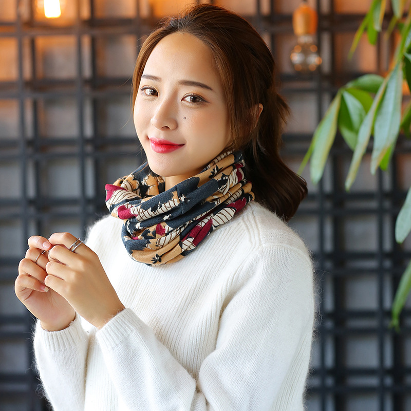 2018 Beanie New Cotton Adult Woman Early Autumn Flower Scarf Hat Lady Set Head Fashion Maternity Confinement Warm Direct Sale