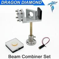 CO2 Laser Beam Combiner Set 20mm 25mm ZnSe Laser Beam Combiner Laser Red Pointer 5V mirror mount for CO2 Laser Engraver Cutter