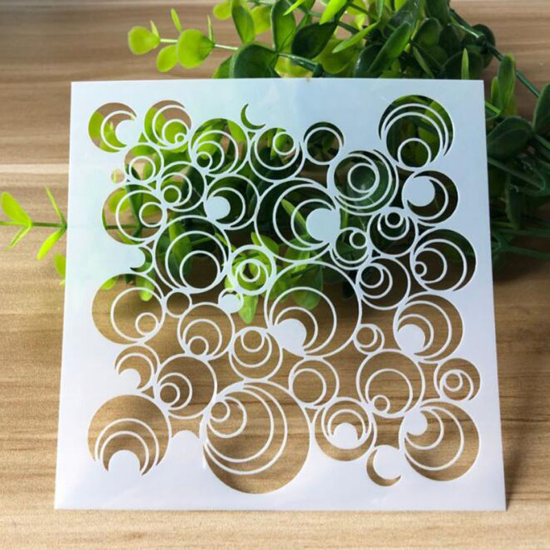 1pc Moon Bubble Stencils Bullet Journal DIY Templates Painting Emboss Art Craft Scrapbooking Cards Album Drawing Decor