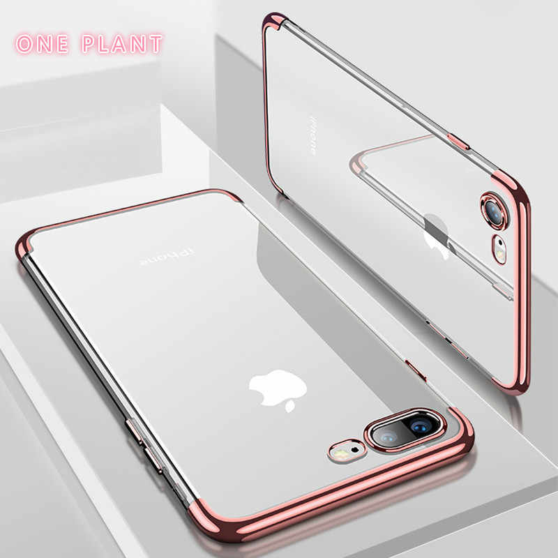 ONEPLANT Silicon Clear Soft Case for iPhone X 10 XS Max XR iPhone 6S 6 s 6Plus 6SPlus iPhone 7 8 7Plus 8Plus Phone Cover Casing