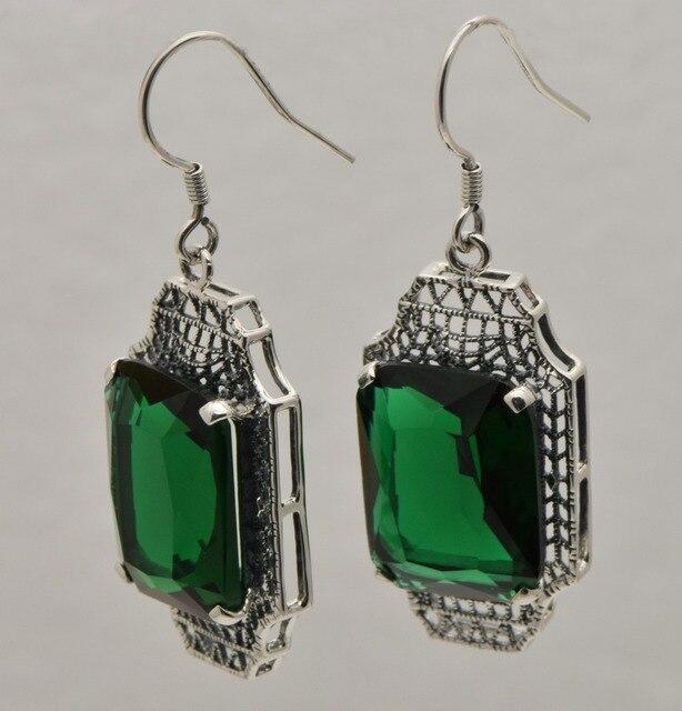 Boemia vento nacional restaurar antigas formas pingente de jade natural mulheres 925 brincos da prata esterlina