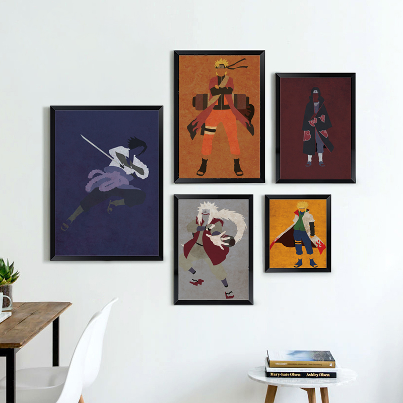 Picture-Poster Naruto Painting-Print Canvas Japanese Retro Anime Children Bedroom-Decoration