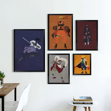 Popular Japanese Anime Naruto Modern Simple Retro Role Canvas Painting Print Image Poster Murals Children Bedroom Decoration