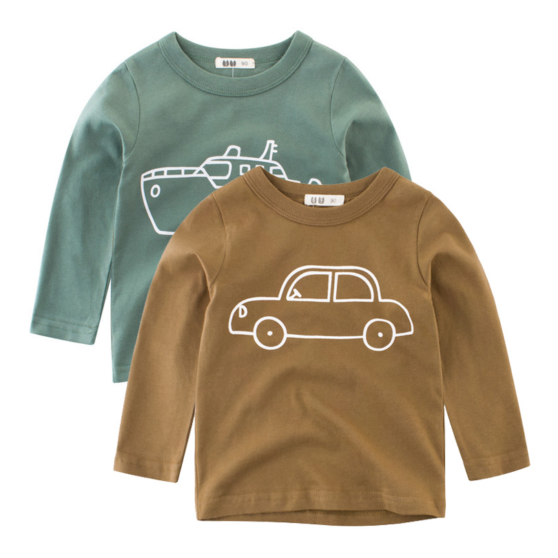 2019 Autumn Kids Tshirt Baby Boy Girls Clothes Cotton Children T-shirts For Boy Cartoon Print Long Sleeve Tops Boys T Shirts