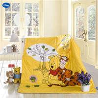 Disney Winnie the Pooh Quilt Summer Comforter Bedding Cotton Fabric Children's Boy Kids Bed Cover Coverlet Cartoon Bedroom Decor