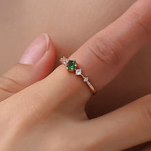 1Pcs High Quality Hot Fashion White Pink Green Crystal Simple Ring Zirconia Simple Rings for Women Anti Allergies For women Gift(China)