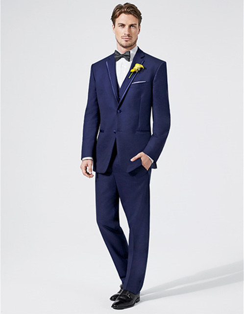 Aliexpress.com : Buy royal blue mens suit groom wedding tuxedo