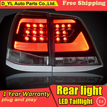 Car Styling for Toyota Land Cruiser 7 Taillights 2008-2015 Land Cruiser LED Tail Lamp Rear Lamp DRL+Brake+Park+Signal led light