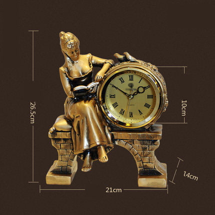 Fashionable Living Room Decoration Clock Creative Decorative Table Clock Quartz Decorations Beauty Ornaments Clock Watches
