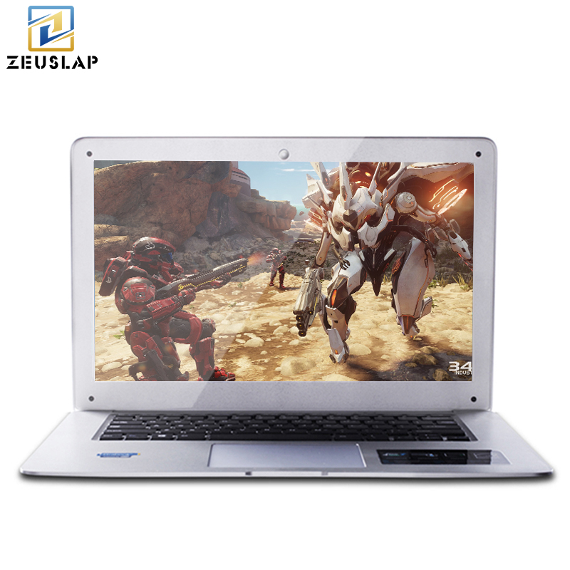 ZEUSLAP 14inch 4GB Ram 128GB SSD Ultra thin Ultra light Quad Core Fast Boot Windows 10