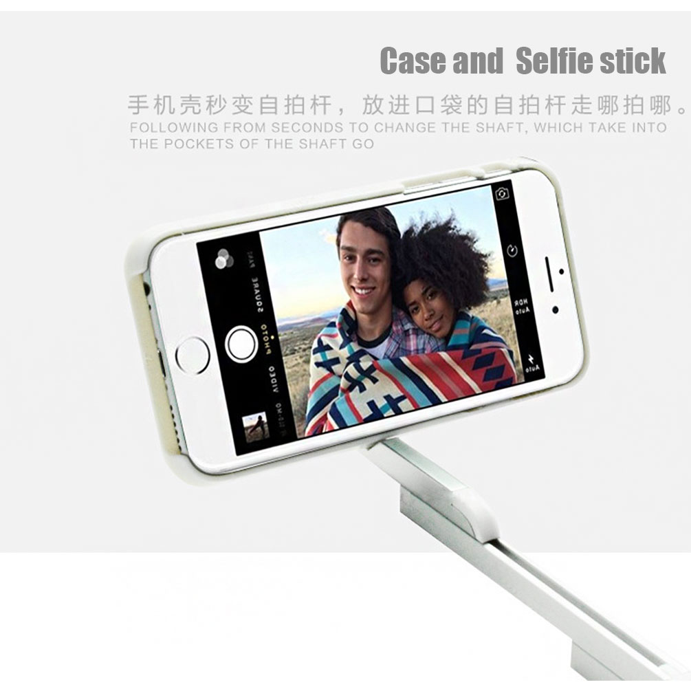 2in1 phone case selfie stick extendable tripods aluminum phone case with bluetooth remote. Black Bedroom Furniture Sets. Home Design Ideas