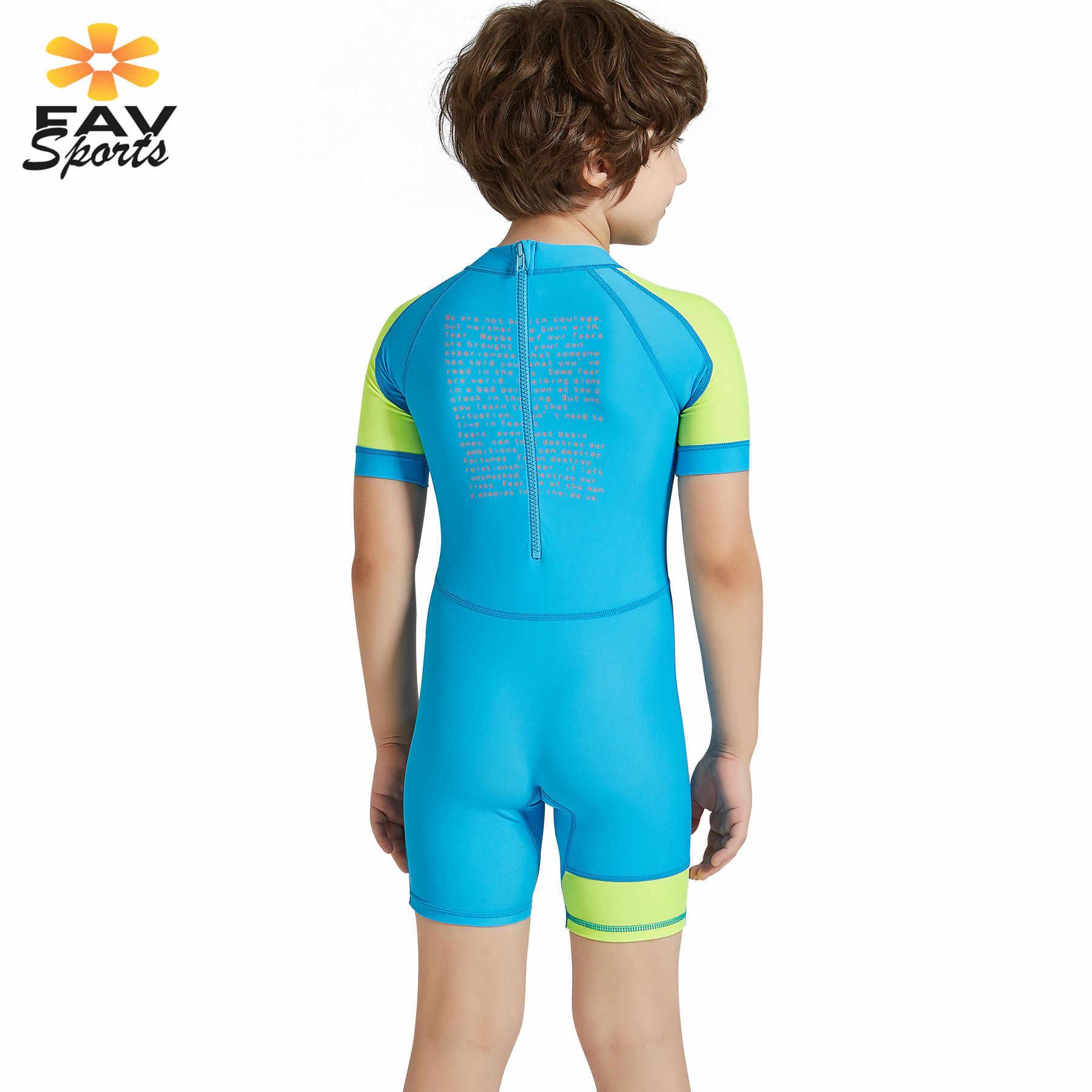 Korte mouw Scuba Wetsuits Kinderen Duikpakken Voor Jongen & Meisjes Rash Guard Badmode Uv-bescherming Shorts Surfen Jumpsuit