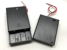 40pcs/lot MasterFire 6V 4 Slots AAA Battery Holder Case Plastic Storage Box For X With OFF/ON Switch Wires