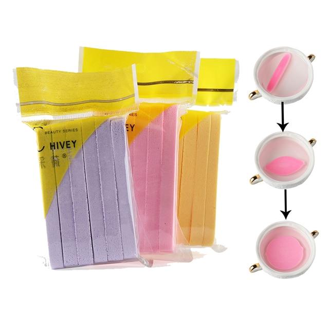 12 pçs/saco Alage Compressa de Limpeza Esponja de Celulose Corpo Facial Face Wash Pad Puff Cosméticos Remover Ferramenta de Beleza Maquiagem
