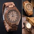 Natural Reloj de Los Hombres/de Las Mujeres Hechas de Madera Reloj de Madera Con Amantes de la Venda de Reloj de madera De Lujo Customed Como Navidad regalos