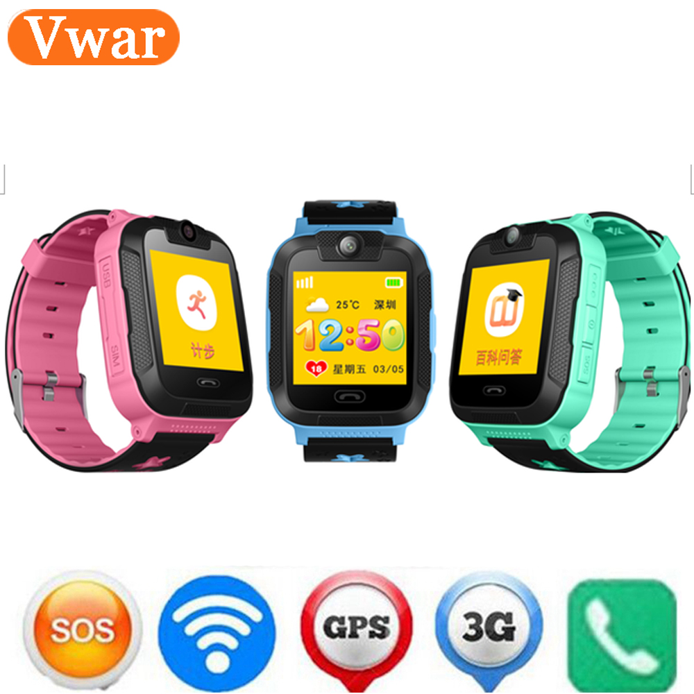 Vwar Smart watch Kids Wristwatch 3G GPRS GPS Locator Tracker Smartwatch Baby Watch With Camera For IOS Android Smartwatch free shipping new smart watch kids wristwatch 3g gprs gps locator tracker anti lost smartwatch baby watch with remote camera