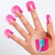 [1Set=26pcs]plastic Nail Art Clip Cap Set Plastic Gel Nail Tools Kit Nail Stamping Plates