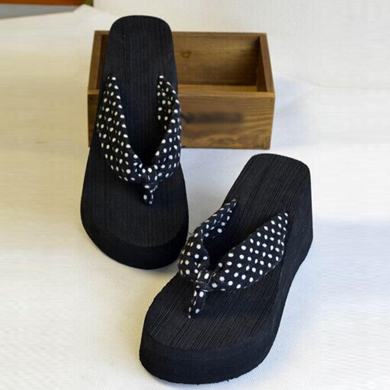 где купить Summer Shoes Women Platform Sandals Wedge Flip Flops Sapato Feminino High Heel slippers Sandalias Mujer Plataforma Chanclas по лучшей цене