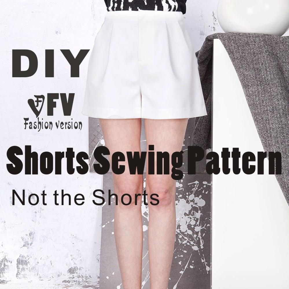 93e3252d1 Pants sewing pattern The trousers pattern(Not the pants) High waist Shorts  sewing pattern BDK-4