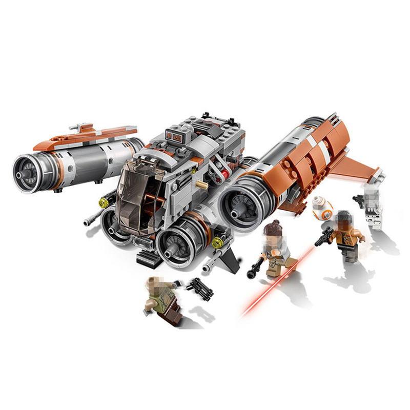 LEPIN Star Wars Jakku Quad Jumper Fighter STARWARS Building Blocks Sets Bricks Classic Model Toys Compatible Legoings 75178 482pcs star space the ja quadjumper set model building blocks bricks toys kids gifts compatible legoings star series wars 75178