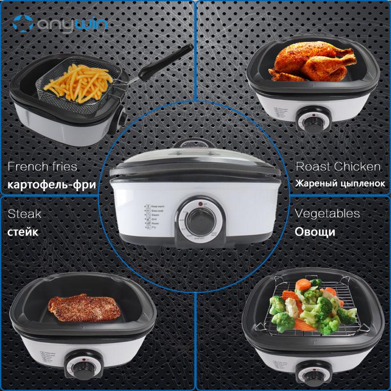 5L 8 в 1 Мультиварка плиты кипения медленно приготовить пара Hot Pot мультиварки гриль теплый глубокий Фрай Кухня Приспособления соте жаркое