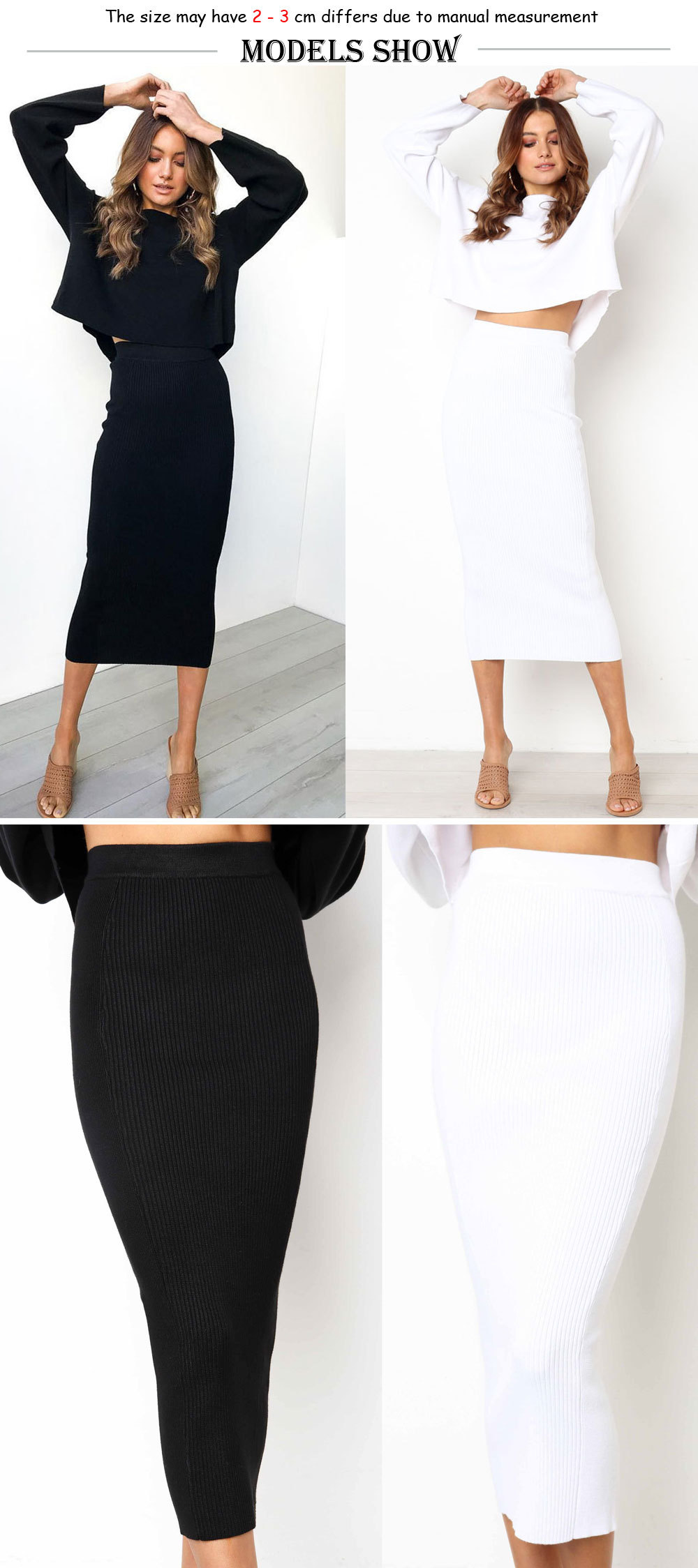 HTB1wMxHmGAoBKNjSZSyq6yHAVXaN - LOSSKY Knitted Autumn Bodycon Long Skirt Sexy Black White High Waist Tight Women Maxi Elegant Party Club Wear Pencil Skirts