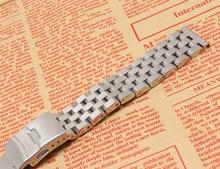 Серебряный браслет ремешок для часов ремешок 18 мм 20 мм 22 мм 24 мм 26 мм Металла Высокого Качества Из Нержавеющей стали Смотреть ремешок мужчины женщины часов