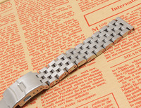 Silver watchband bracelet strap 18mm 20mm 22mm 24mm 26mm High Quality Metal Stainless steel Watch Band for men women hours