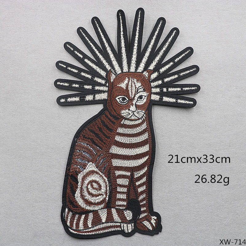 VIPOINT embroidery big cats patches animal patches badges applique patches for clothing XW 160 in Patches from Home Garden