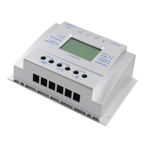 Image 4 - 80A شاحن بالطاقة الشمسية تحكم USB 1.5A 5 فولت الناتج 12 فولت 24 فولت LCD لوحة طاقة شمسية منظم مع تحميل الموقت والتحكم في الضوء للإضاءة