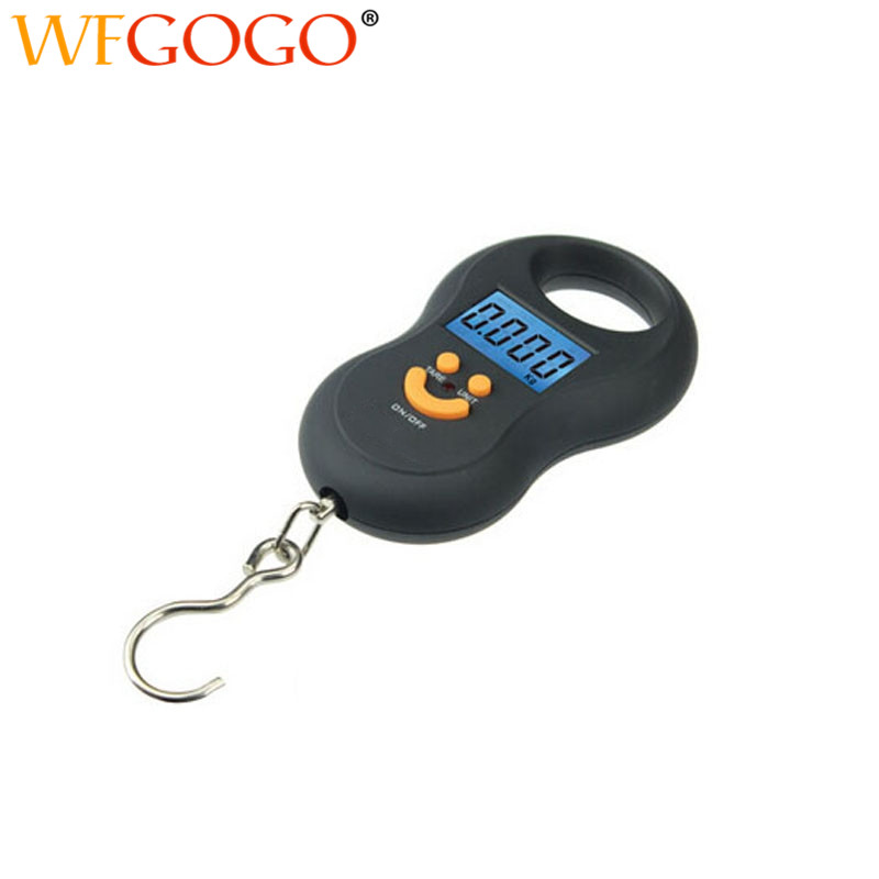 50kg/5g Portable Electronic Scales Hanging Digital Scale Fishing Hook Pocket Weighing Balance With LED Light