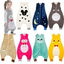 Фланелевый спальный мешок для малышей; сезон весна-осень; детские пижамы для малышей; комбинезон для новорожденных; одежда для сна для малышей; одежда для От 0 до 2 лет; BL13