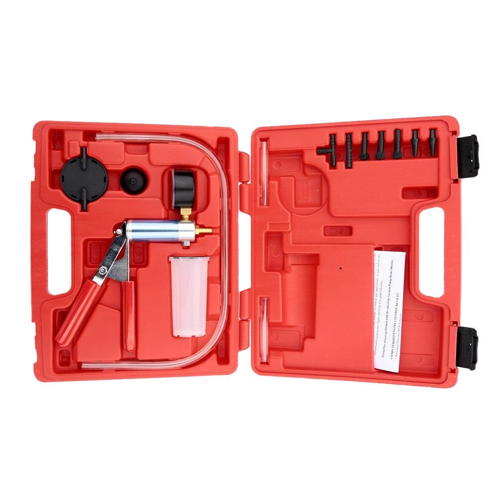 A0003 Auto Pressure Tester Vacuum Pump Brake Bleeder Tester Vacuum Bleed Test Kit Garage Tool