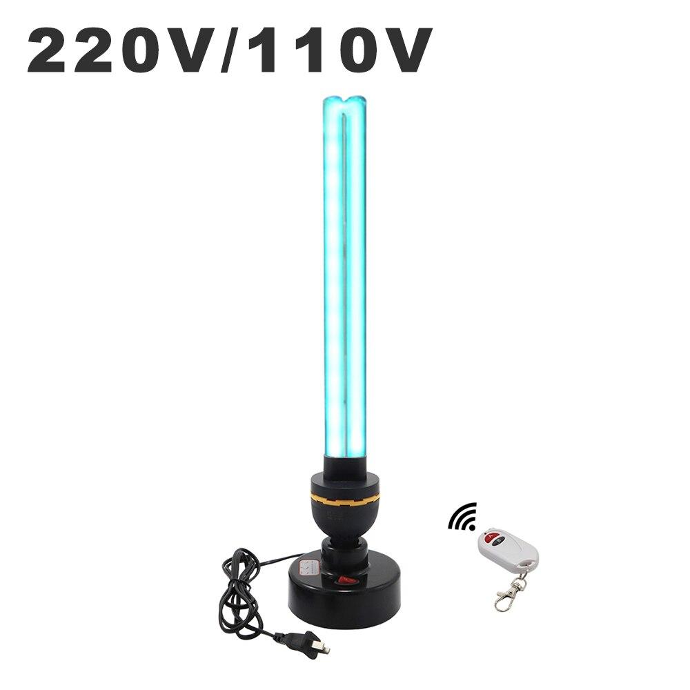 40W High Ozone UV Disinfection Lamp 110V 220V Ultraviolet Lamps E27 Tube UVC Germicidal Lights Household Sterilizing Lighting